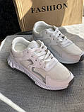 Кроссовки  женские на платформе белые, фото 4