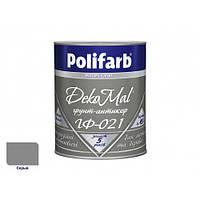 Антикоррозионная алкидная грунтовка для металла DekoMal ГФ-021 Polifarb матовая серая