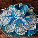 """Нарядное платье на 1-2 годика """"Кружево"""", фото 6"""