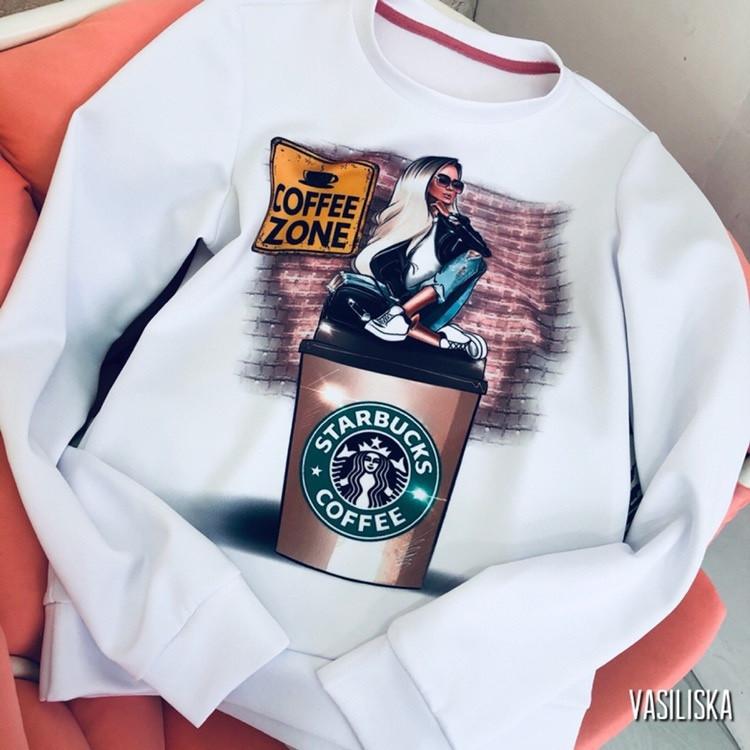 "Свитшот женский модный ""Coffee zone"""