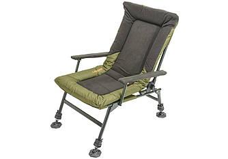 Кресло Brain Recliner Fleece Comfort HYC009THF-AL, карповое кресло для рыбалки и природы усиленное (130 кг)