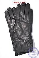 Женские кожаные перчатки (лайка) на плюше - F25-2, фото 1