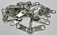 Бегунки для рулонной молнии тип 8 двойной (8 мм спираль) никель / упак. 50 шт.