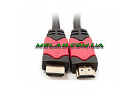 Высокоскоростной кабель HDMI-HDMI, длина 5м, черный, прочный, Hdmi кабель, кабель, HDMI кабели