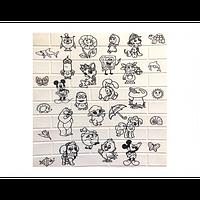 Самоклеющаяся декоративная 3D панель детская «Раскраска» №101 (5 мм)