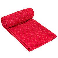 Йога рушник (килимок для йоги) Zelart FI-4938 (розмір 1,83мх0,63м, мікрофібра, силікон, кольори в асортименті), фото 1