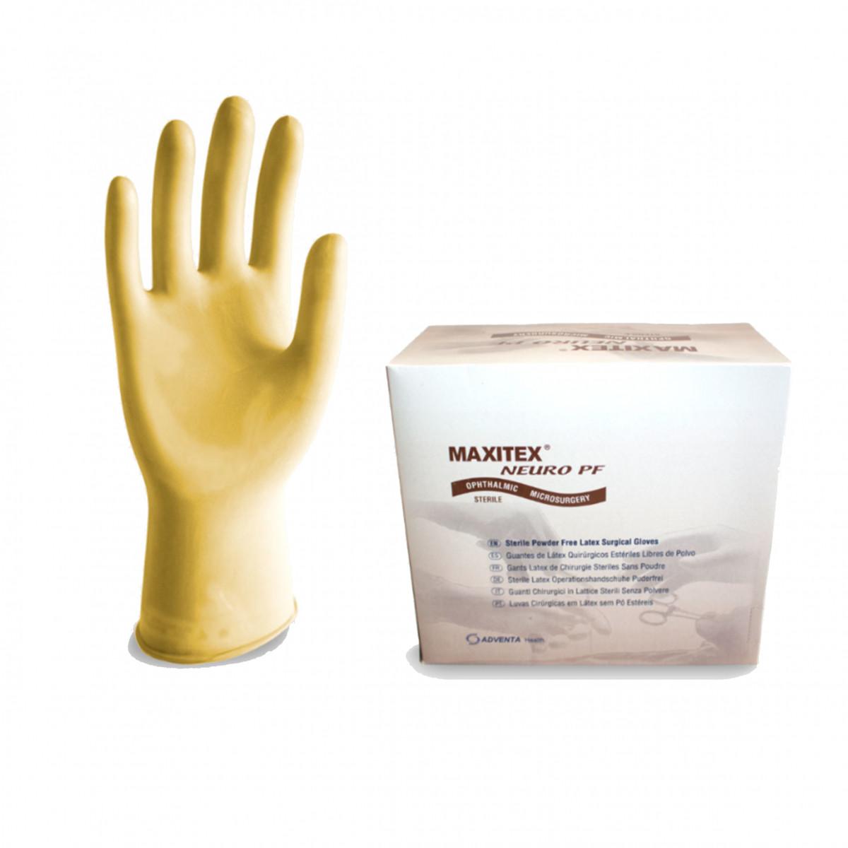Перчатки Maxitex Neuro латексные хирургические стерильные неприпудренные р.8,0