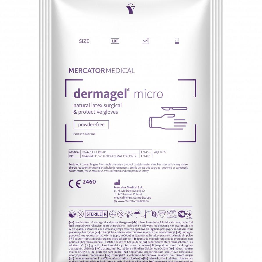 Рукавички Dermagel Micro латексні хірургічні стерильні неприпудрені р. 6,5