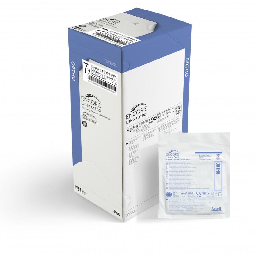 Перчатки Encore Latex Ortho латексные хирургические стерильные неприпудреные р.8,0