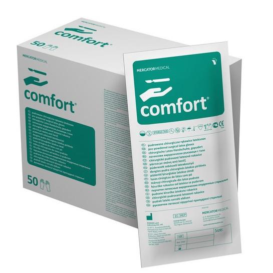 Перчатки Comfort латексные хирургические стерильные припудренные р.7,0