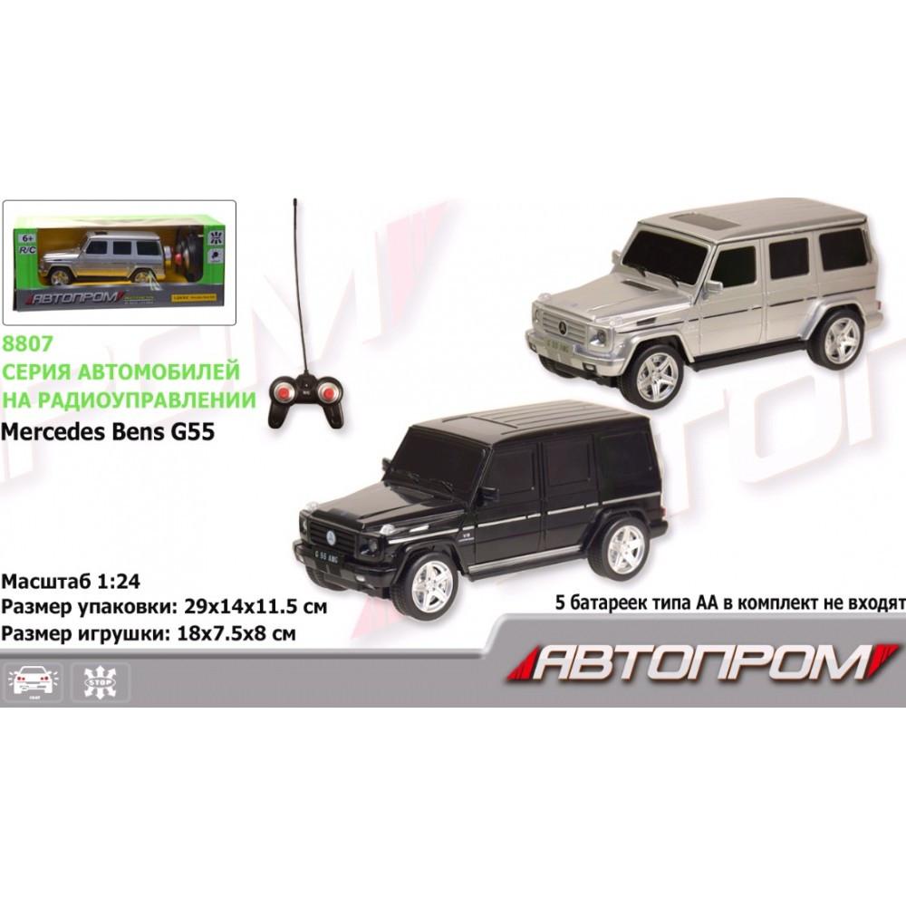 АВТОПРОМ Машина батар. р/у 8807 (27029) 1:24 R/C Mercedes Benz G55 2 кольори в коробк