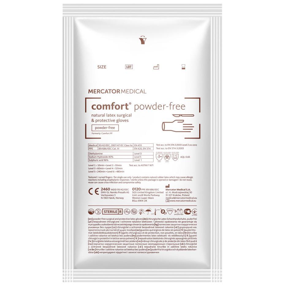 Перчатки Comfort PF латексные хирургические стерильные неопудренные р.7,0