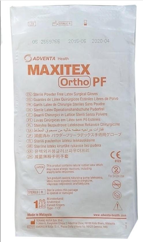 Перчатки Maxitex Ortho PF латексные хирургические стерильные неприпудренные р.8,0