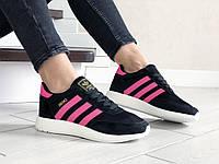 """Женские кроссовки Adidas Iniki Runner Boost """"Black Pink, кроссовки черные в стиле Адидас Иники 36"""