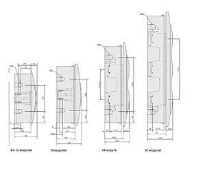 Щит встраиваемый 12 модулей белая дверь Easy9 EZ9E112P2F (Schneider Electric), фото 2