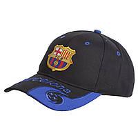 Кепка футбольного клуба BARCELONA CO-0796 (хлопок, черный-синий)