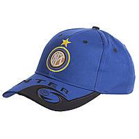 Кепка футбольного клуба INTER CO-0802 (хлопок, синий-черный)