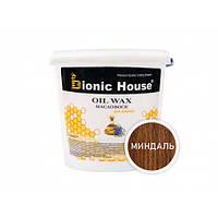 Масло-воск для дерева с пчелиным воском Bionic House в цвете (миндаль)