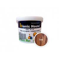 Масло-воск для дерева с карнаубским воском Bionic House в цвете (тик)