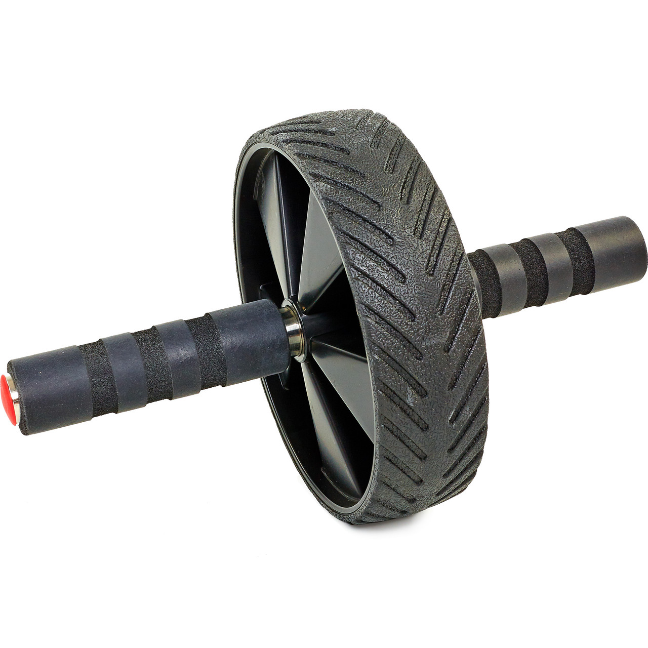 Колесо для пресса (ролик для пресса) одинарное Record FI-4243 (d-19см, металл, пластик, ручка-неопрен, черный)