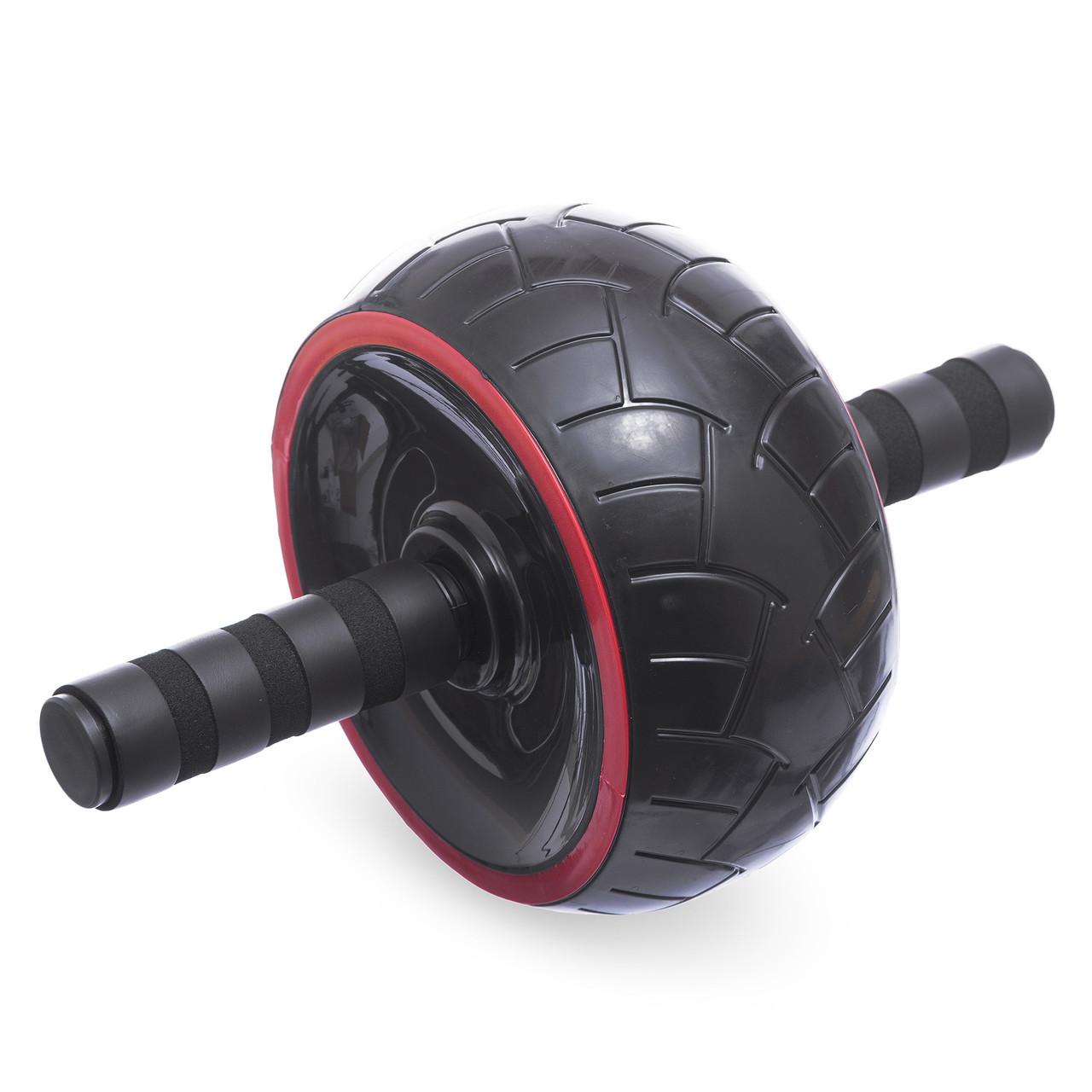 Колесо для пресса (ролик для пресса) одинарное FI-1696 (р-р 30х20х9,5см, металл, пластик, ручка-резина)