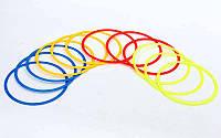Кольца тренировочные в чехле C-6422-40 (пластик, d-40см, в комплекте 12шт, красный, желтый, синий, оранжевый)
