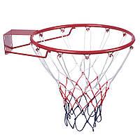 Кольцо баскетбольное C-0844 (d кольца-45см, d трубы-12мм, в ком.кольцо-металл, сетка-нейлон, болты), фото 1