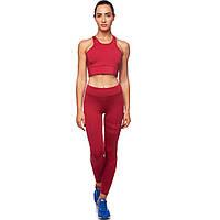 Комплект для занятий фитнесом и йогой (лосины и топ) CO-8174 (лайкра, р-р M-L-40-48, красный)
