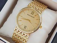 Мужские (Женские) кварцевые наручные часы Patek Philippe на металлическом ремешке, фото 1
