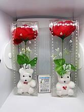Мишка с розой. Игрушка для наполнения Пиньяты от ПиньятаUA