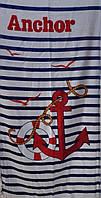 Пляжное полотенце 75х150 см. Велюр/махра Турция