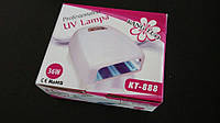 Ультрафиолетовая лампа для сушки ногтей Kang Tuo KT-888 тамер до 180сек, 36W, Лампа, Лампа для сушки ногтей