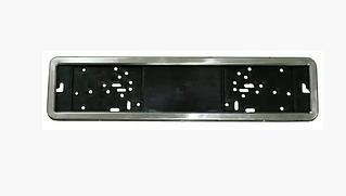 Рамка для номера антивандальная из нерж. стали.