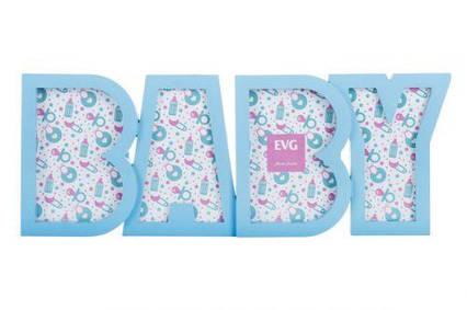 "Фоторамка х 4 ""BABY"" (голубая) 8036_BLUE"
