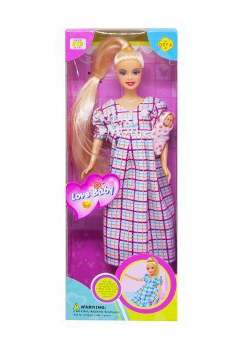 """Кукла """"Defa. Беременная"""" (платье в клеточку) 6001"""