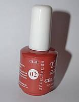 Гель-лак YRE №02, наращивание ногтей
