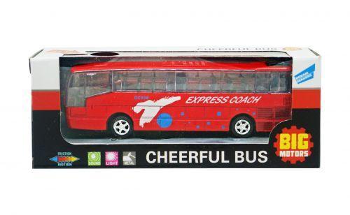 Автобус инерционный (красный) XL80136L