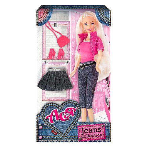 "Кукла Ася с аксессуарами ""Jeans Collection"" (блондинка) 35089"