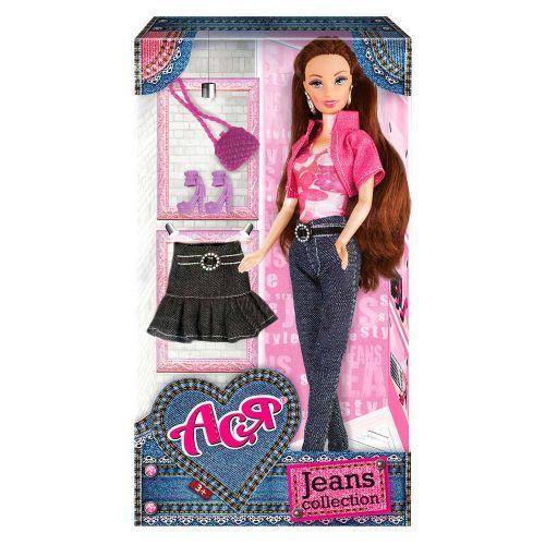 "Кукла Ася с аксессуарами ""Jeans Collection"" (брюнетка) 35090"