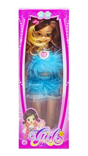 """Музыкальная кукла """"Модница"""" (в голубом платье) 88018-14"""