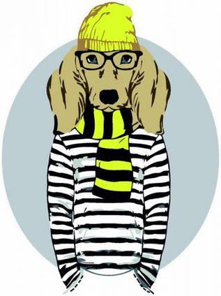 "Картина по номерам ""Stylish Dog"" ★☆☆ N00013265"