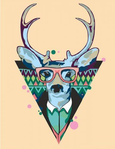 "Картина по номерам ""Cool deer"" ★★☆ N0001364"