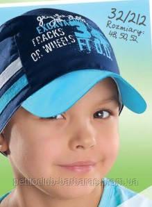 """Детская летняя кепка """"34"""" для мальчика темно-синяя  (AJS, Польша)"""