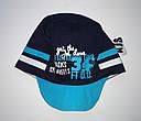"""Детская летняя кепка """"34"""" для мальчика темно-синяя  (AJS, Польша), фото 2"""