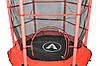 Батут Atleto 140 см с внутренней сеткой красный, фото 2