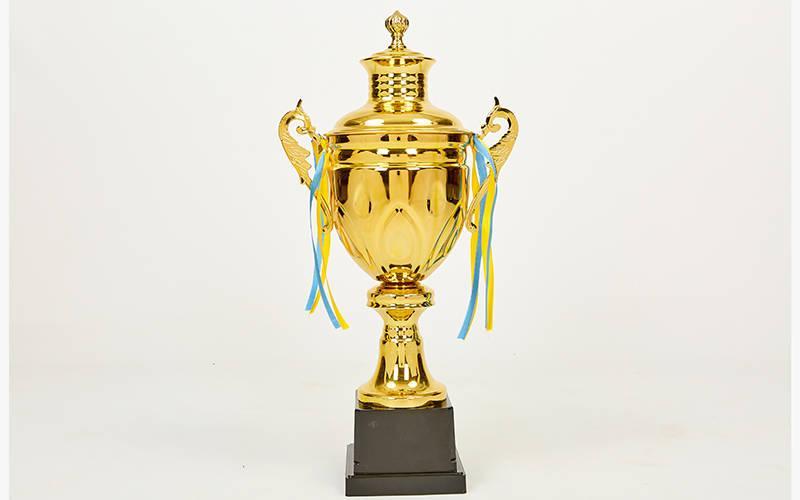 Кубок спортивний з ручками і кришкою TALE C-2008B (метал, h-49см, b-23см, d чаші-13см, золото)
