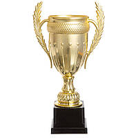 Кубок спортивный с ручками JZ001-1A (металл, пластик, h-37см, b-20см, d чаши-12см, золото)