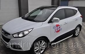 Пороги боковые (подножки профильные) Hyundai IX-35 2010+