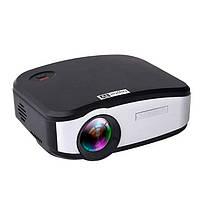 Портативний Full HD мультимедійний LED проектор C6TV матриця 800 * 480, 2USB / SD / HDMI / JPG / MP3 / Wi-FI