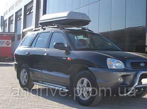 Пороги боковые (подножки-площадка) Hyundai Santa Fe 2001-2006 (Ø42)